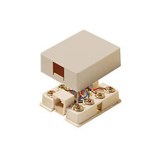 Eagle Data Surface Mount Jack 8 Conductor Ivory Modular Gold Contacts Single Pt