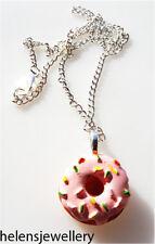 Hermosa Rosa Hecha A Mano Donut Collar + Gratis Bolsa De Regalo