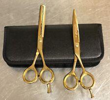 "6.5"" Professional Salon Hair Cutting Scissors Thinner Barber Shears Razor Kit"