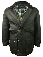 Mens Eirinn Classic Country Padded Wax Cotton Jacket Quilted Waxed Hunting Coat