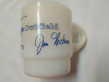 1969 Anchor Hocking Fire King Chicago Cubs Outfield Milk Glass Mug