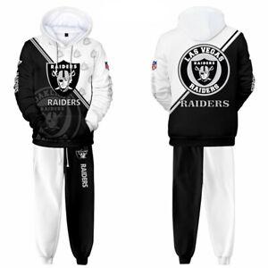 Las Vegas Raiders Tracksuit Set Jogging Sweatsuit Hoodie Sweatpants Sportswear