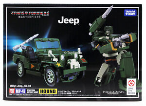 Transformers Masterpiece MP-47 Hound Jeep CJ-3B Takara Authentic US IN STOCK