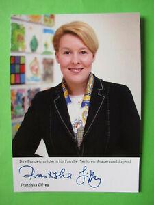 Autogrammkarte - Franziska Giffey -  SPD - Berlin - orig. autograph