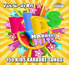 VOCAL-STAR KIDS CHILDREN KARAOKE CDG CD G DISC SET 150 SONGS FOR KARAOKE MACHINE