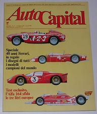 AUTOCAPITAL 11/1987 ALFA ROMEO 75 3.0 V6 - MASERATI BITURBO 420 Si – TRIUMPH TR3