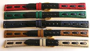 12mm 14mm 18mm FLEURUS RETRO WEAVE - FRANCE HAND MADE GENUINE LEATHER WATCH BAND