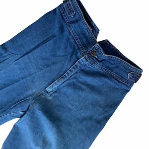 Vintage 70s San Francisco Souvenirs Jeans 26 Bell Bottoms Hippie Med Wash Buckle