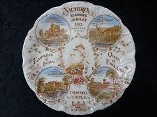 1897 Queen Victoria Diamond Jubilee Plate - Balmoral Castle, Buckingham Palace