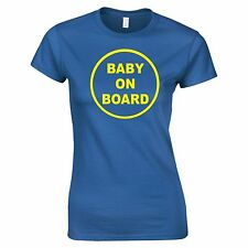 Baby On Board Funny Tee T-Shirt Top Tumblr Novelty Xmas Gift Secret Santa