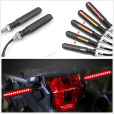 Pair Flowing 24LED 2-Color Motorbike Brake Light Flasher Strobe Turn Signal Lamp