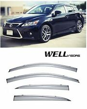For 11-UP Lexus CT200H WellVisors Side Window Visors W/ Chrome Trim