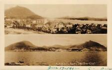 "RPPC Ketchikan, Alaska ""The First City"" Thwaites Photo 1932 Vintage Postcard"