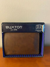 BUXTON Leather Three Fold Wallet Brown  NWT in original box