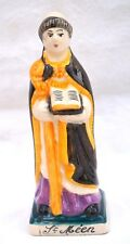 QUIMPER Saint Meen Figure French Hand Painted Faience