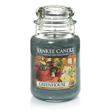 ☆☆GREENHOUSE☆☆ LARGE YANKEE CANDLE JAR~FREE SHIPPING☆☆TOP RATED SUMMER SCENT