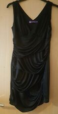 Black Evening Dress 12 Ever Pretty chiffon evenings holidays cruise party vgc