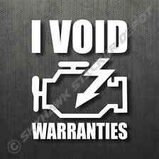 Engine Light Funny Bumper Sticker Vinyl Decal Void Warranty Car Truck For Honda