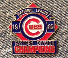 Chicago Cubs Pin~1989 National League Eastern Division Champions~MLB~Baseball