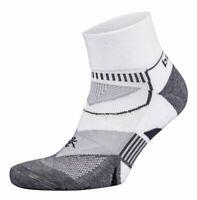 Balega Enduro V-Tech Unisex Quarter Running Socks - White/Grey, Small (3-6UK)