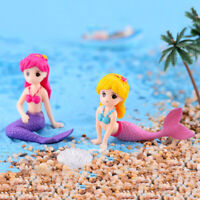 Mermaid DIY Mini Miniature Figurine Garden Dollhouse Decor Micro Landscape O JB