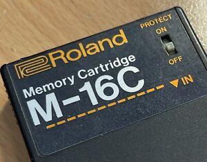 ROLAND M 16C SPEICHERKARTE für MKS, TR 909, 707 ALPHA JUNO, JX, neue Batterie