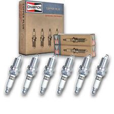 6 pc Champion 318 Copper Spark Plugs RC12MC4 - Auto Pre Gapped Ignition so