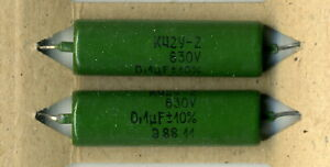Lot of 20 pcs K42Y-2 0.1uF 630V Metallized Paper in Oil Capacitors NOS Tested