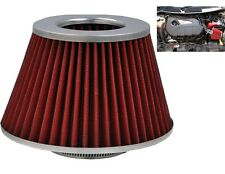 Red Grey Induction Kit Cone Air Filter Toyota Hilux 1983-2016
