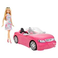 Barbie Convertible Pink Car and Doll  | Official Brand New|
