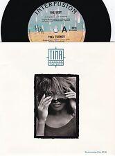 Tina Turner ORIG OZ PS 45 The best NM '89 Interfusion R&B Pop Rock