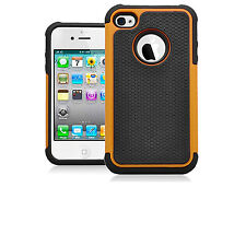 For Apple iPhone 4S 4 Executive Armor Hybrid Case Hard Silicone Cover 9 Colors