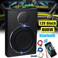 8'' 800W Slim Underseat Car Bass Subwoofer Sub Speaker Amplifier bluetooth Audio