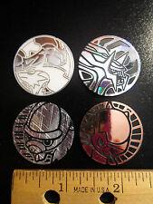 4 Deck PLASTIC COIN Pokemon Silver ZEKROM+RESHIRAM+SHIELDON+CRANIDOS+DIALGA tcg