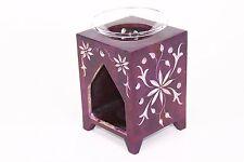 (15233) 14cm Purple Natural Stone Tea light/Candle/Votive Holder/Oil Burner