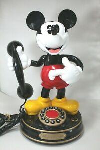 Vintage Classic Mickey Mouse Animated Talking Telephone Disney Phone TeleMania