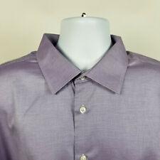 Jos A Bank Reserve No Wrinkles Purple Mens Dress Button Shirt Size 18 - 34