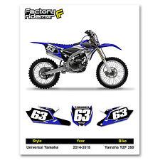 2014-2018 YAMAHA YZF 250 Dirt Bike Graphics Custom Number Plates