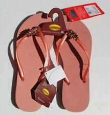 Havaianas Swarovski Flip Flops ladies Size 8.5, 9/10 pink rose crystals offer Nw