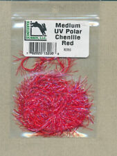 large fl red // pearl Chenille Glow Brite 3 yds