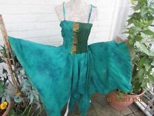 SHORT PATCHWORK  SARI PIXIE DRESS SZ 6/14 ~FAIRY ~HIPPY~BOHO~WOODLAND FAIRY~ELF