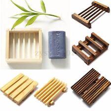 Natural Wood Soap Tray Holder Dish Box Case Bath Shower Plate Bathroom Accessory