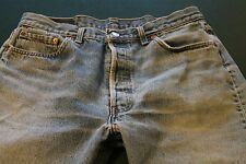 """LEVI 501 Straight Leg Jeans TAG 36x30 ACTUAL 32x28-1/2"""" USA Made Worn"""