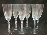 """Lead Crystal Champagne Flutes, Set of (6), Excellent Condition 8.5"""" tall"""