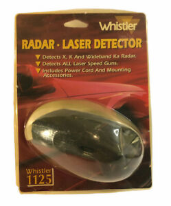 Whistler Radar Laser Detector 1125 With Power Cord And Mounting Accessories NOS