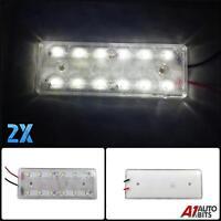 2X 12V LED FRONT SIDE REAR WHITE MARKER POSITION LIGHTS LAMPS CAMPER CARAVAN VAN