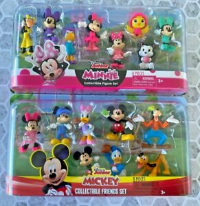 NEW!! Set of 2 Disney Junior Minnie Mickey Mouse Collectible Friends16 Pieces