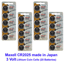 20 count of MAXELL CR2025 2025 LITHIUM BUTTON COIN CELLS BATTERIES Battery 3V