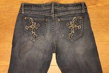 Wrangler Rock 47 women's denim jeans Flare WHX75HT 7/34 W-33 L-35 R-7.5 EUC