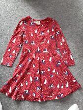 Frugi 3-4 Years Christmas Penguin Long Sleeve Skater Dress